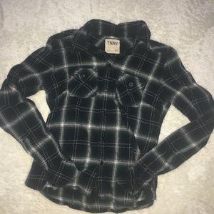 Aritzia TNA Plaid Flannel Shirt